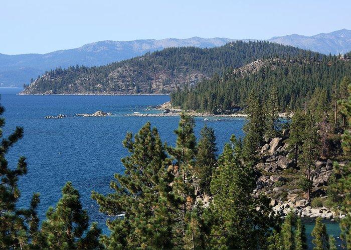 Lake Tahoe Greeting Card featuring the photograph Lake Tahoe Nevada by Aidan Moran