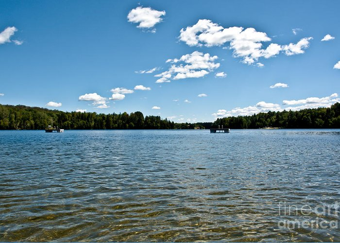 Water Greeting Card featuring the photograph Lake View by Cheryl Baxter