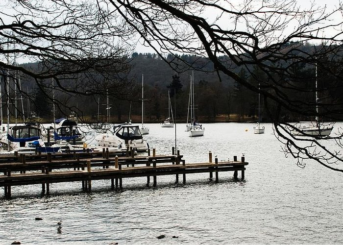 Landscape Greeting Card featuring the photograph Lake Windermere by Kingsuk Mukherji