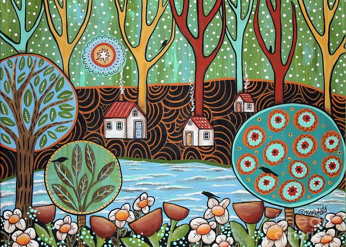 Folk Paintings Greeting Cards