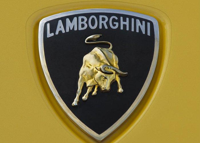 Lamborghini Emblem 2 Greeting Card For Sale By Jill Reger