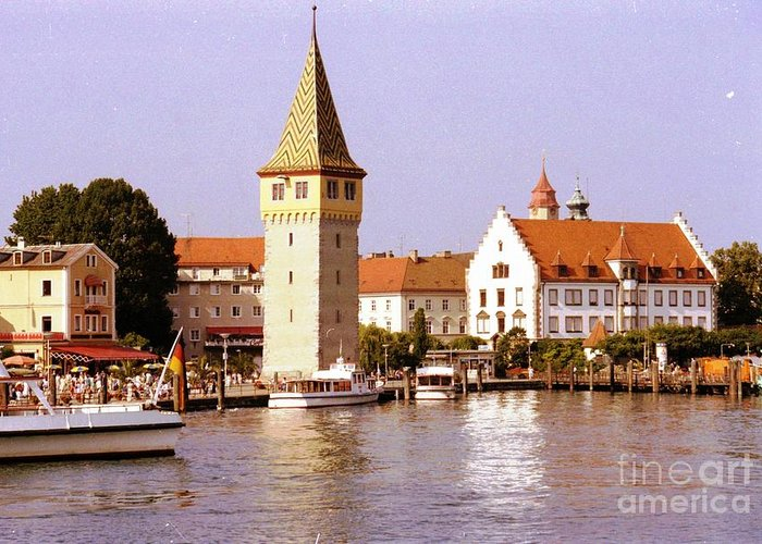 Germany Greeting Card featuring the photograph Landau Waterfront by Ted Pollard