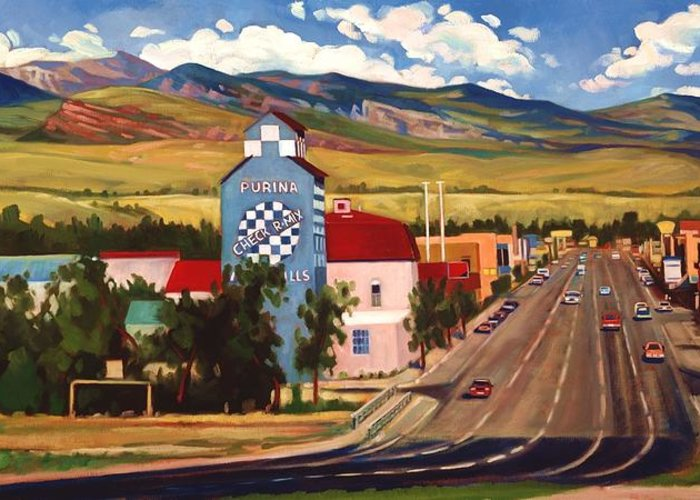 Scenic Drive Paintings Greeting Cards
