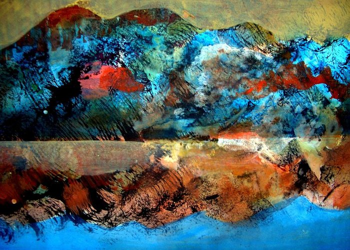 Landscape Greeting Card featuring the painting Landscape 121001-2 by Aquira Kusume