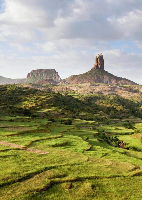 Abyssinia Greeting Card featuring the photograph Landscape In Tigray, Northern Ethiopia by Martin Zwick
