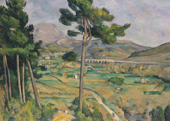Landscape With Viaduct Greeting Card featuring the painting Landscape With Viaduct by Paul Cezanne