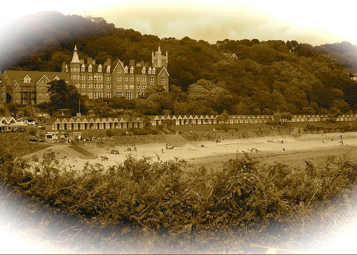 Langland Bay Greeting Card featuring the photograph Langland Bay Gower Wales by John Colley
