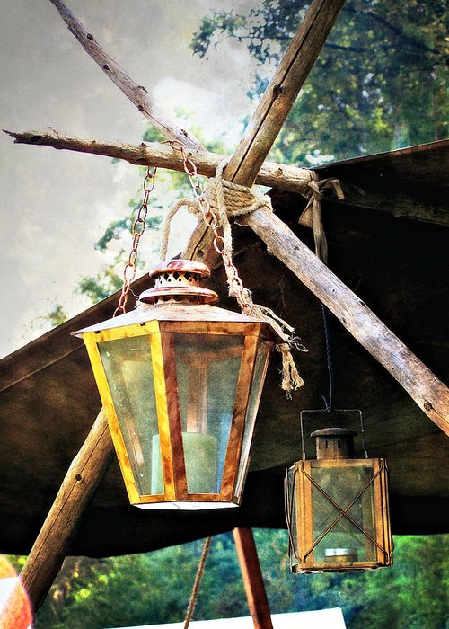 Historic Greeting Card featuring the photograph Lanterns by Marty Koch