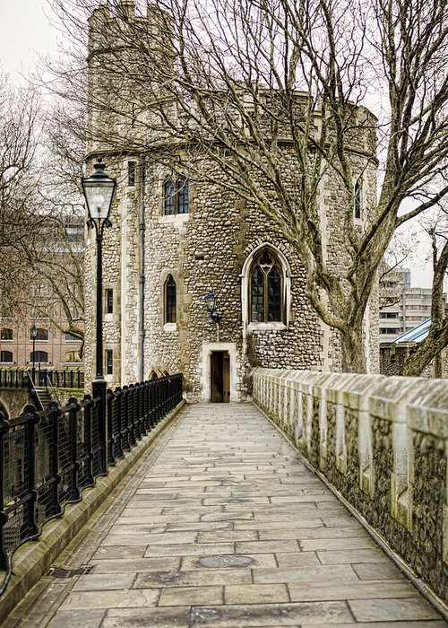 Lanthorn Tower Greeting Card featuring the photograph Lanthorn Tower by Heather Applegate