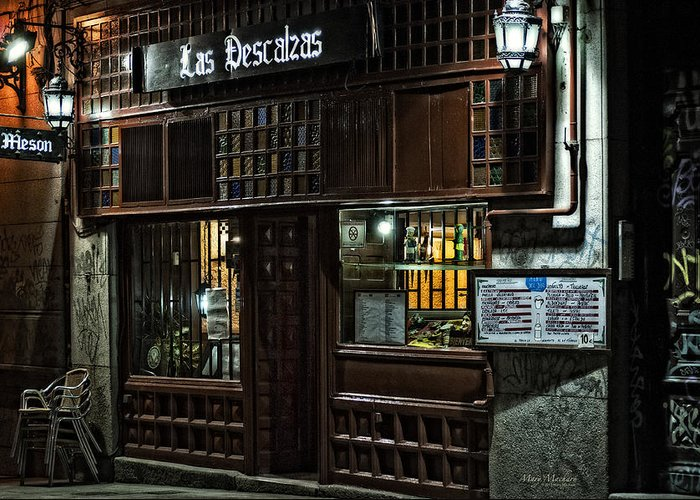 Las Descalzas Greeting Card featuring the photograph Las Descalzas - Madrid by Mary Machare