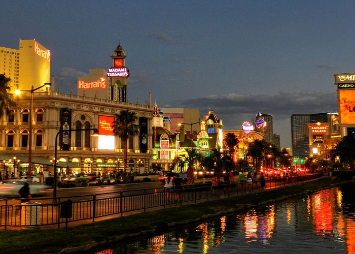 Las Vegas Strip Greeting Card featuring the photograph Las Vegas 36 by Lance Vaughn
