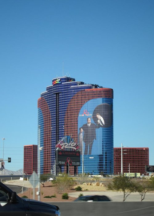 Las Greeting Card featuring the photograph Las Vegas - Rio Casino - 12121 by DC Photographer