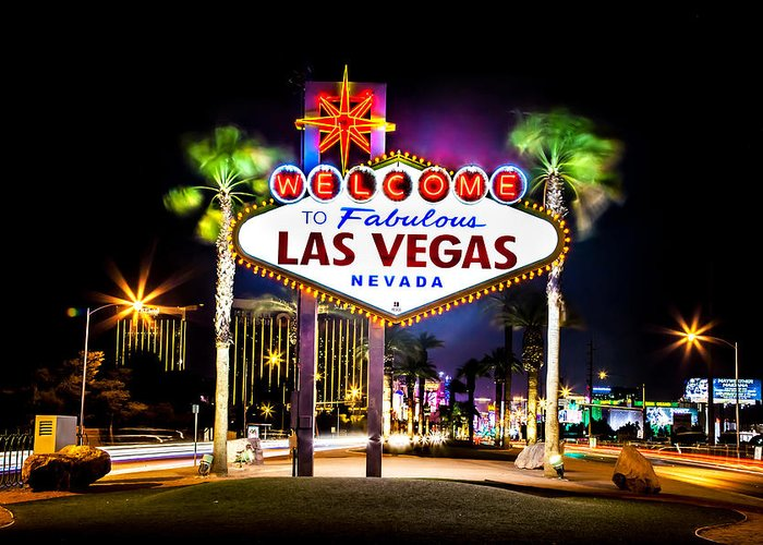 Las Vegas Greeting Card featuring the photograph Las Vegas Sign by Az Jackson