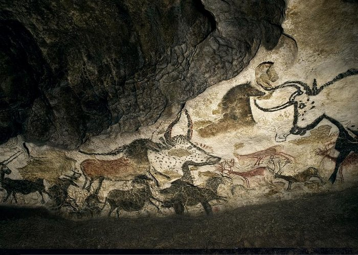 Cave Painting Greeting Card featuring the photograph Lascaux II Cave Painting Replica by Science Photo Library