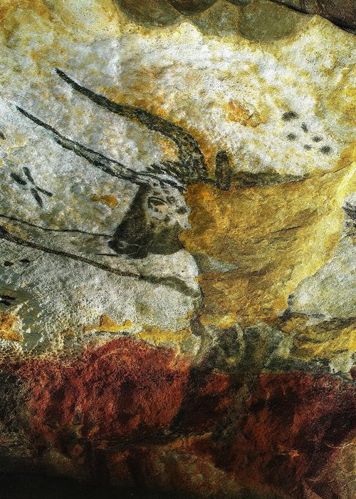 Lascaux Ii Greeting Card featuring the photograph Lascaux II Number 3 - Vertical by Jacqueline M Lewis