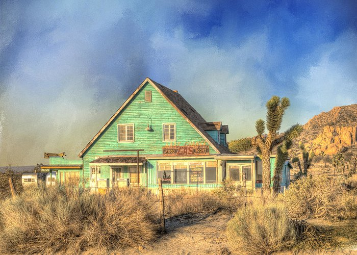 Building Exterior Greeting Card featuring the photograph Last Chance by Juli Scalzi