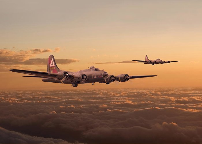 Aircraft Greeting Card featuring the digital art Last Home by Pat Speirs
