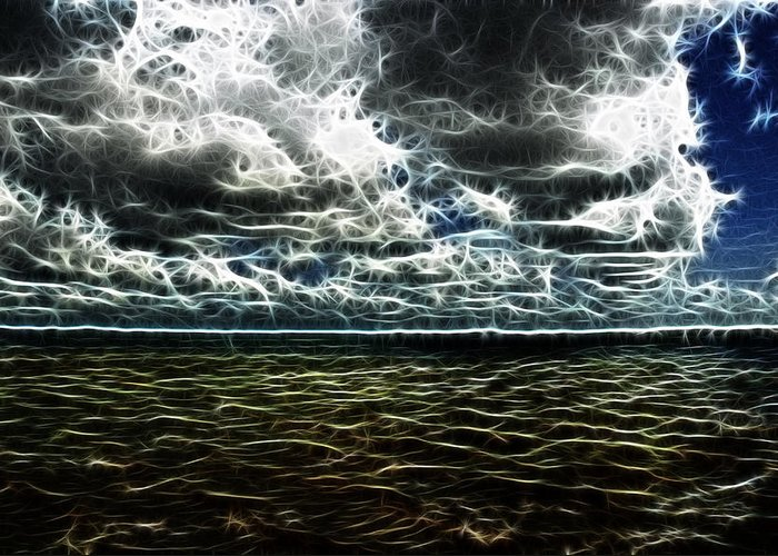 Orosco Photography Greeting Card featuring the photograph Last Winds Of Hurrican Issac by G Adam Orosco