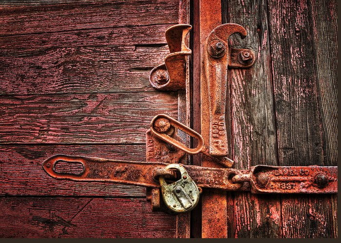 Hdr Greeting Card featuring the photograph Latch by Mikael Carstanjen