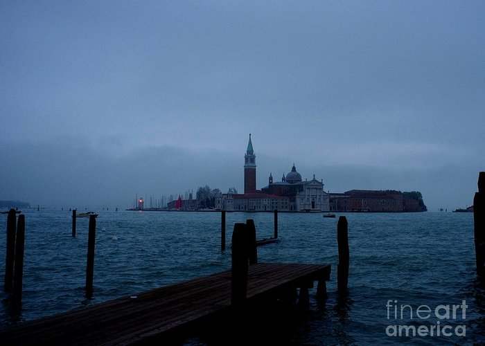 View From Venice Italy Greeting Card featuring the photograph Late Evening In Venice by Kitrina Arbuckle