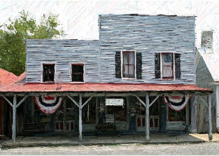Merchants' Row Greeting Card featuring the photograph Latimore's Store - Perryville Ky by Thia Stover