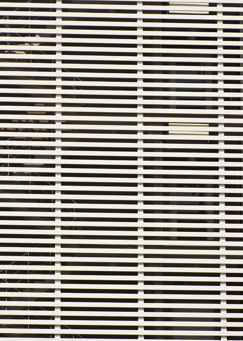 Abstract Greeting Card featuring the photograph Lattice For Modern Building by Ammar Mas-oo-di