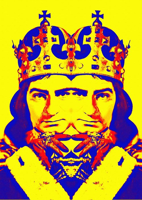 Actor Greeting Card featuring the photograph Laurence Olivier Double In Richard IIi by Art Cinema Gallery