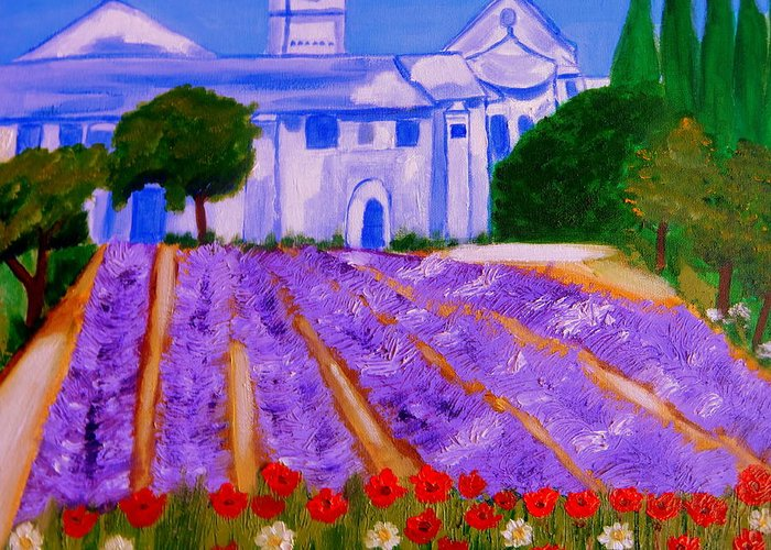 Provence Greeting Card featuring the sculpture Lavande a St Paul de Mausole St Remy de Provence by Rusty Gladdish