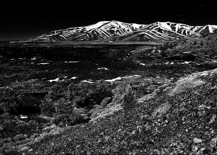 Craters Greeting Card featuring the photograph Lavascape by Benjamin Yeager