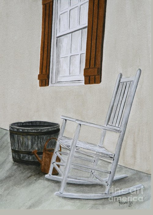 Americana Greeting Card featuring the painting Lazy Day by Regan J Smith