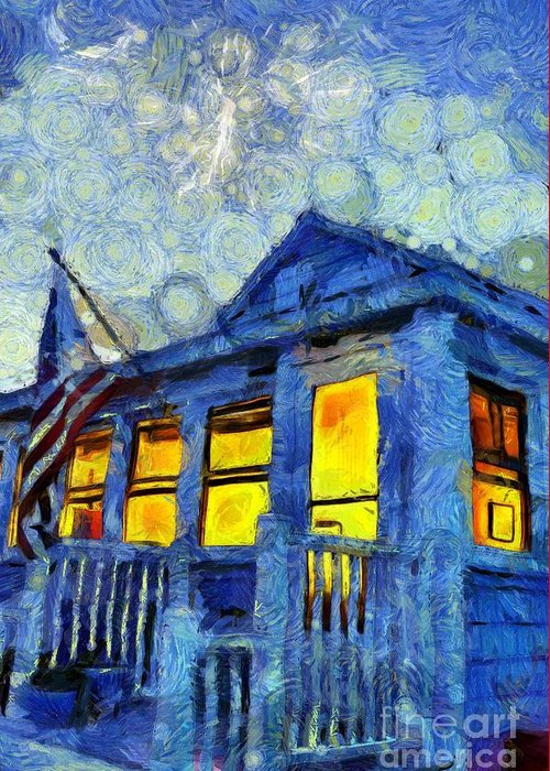 Van Gogh Style Photographs Greeting Cards