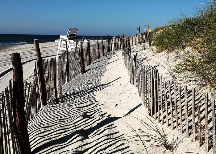 Images Greeting Card featuring the photograph Lbi Dunes by John Rizzuto