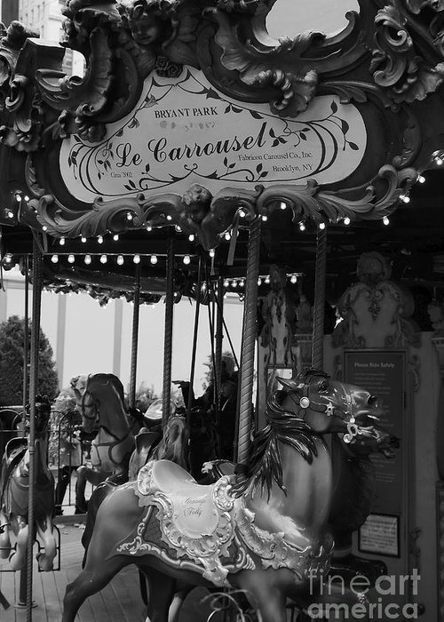 New York City Greeting Card featuring the photograph Le Carrousel by David Rucker
