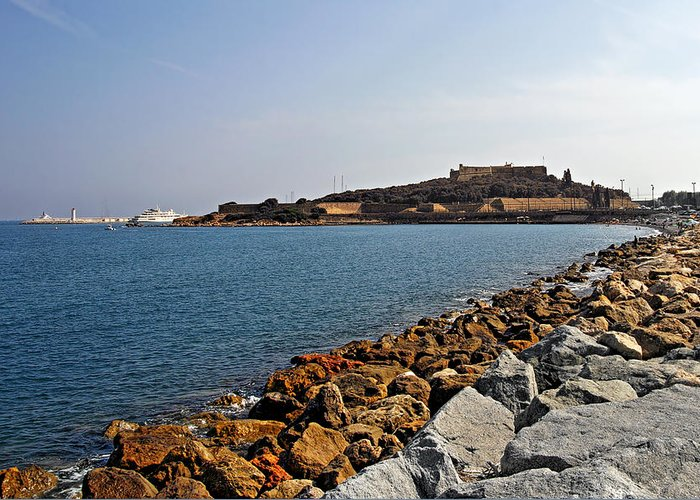 Fort Greeting Card featuring the photograph Le Fort Carre - Antibes - France by Christine Till