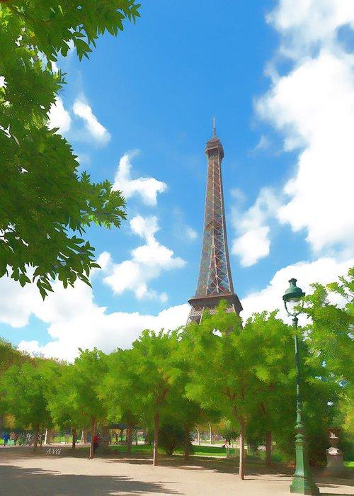 Paris Greeting Card featuring the photograph Le Tour Eiffel by Allan Van Gasbeck