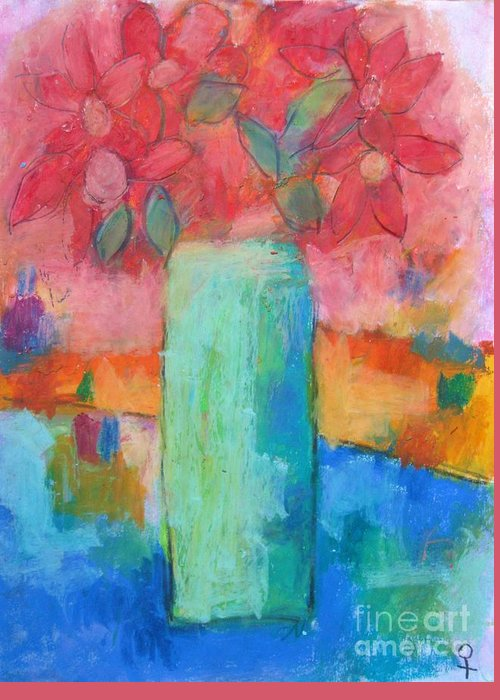Modern Greeting Card featuring the painting Le Vase Jardin by Venus