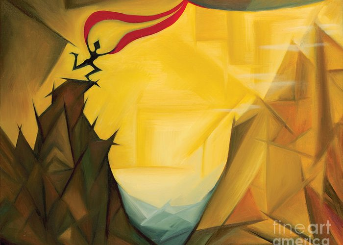 Art Greeting Card featuring the painting Leap Of Faith by Tiffany Davis-Rustam