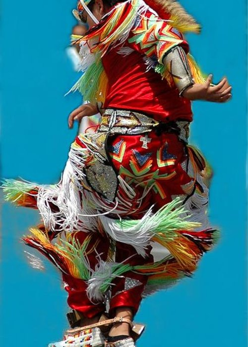 Native Greeting Card featuring the photograph Leaping Into The Air by Kathleen Struckle