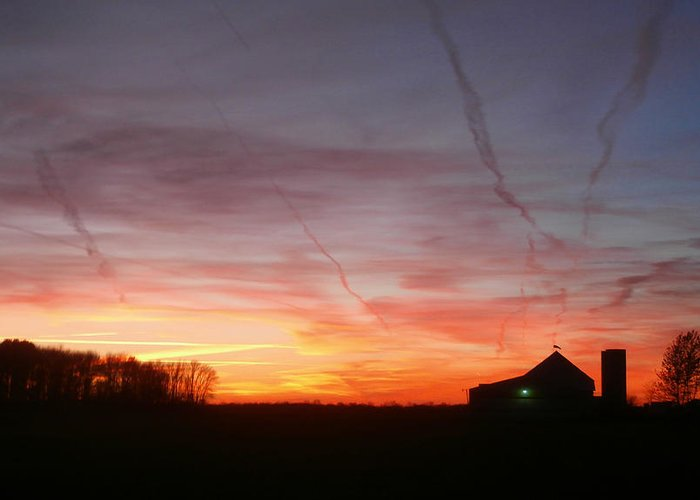 Sunset Greeting Card featuring the photograph Leave The Light On by Dan McCafferty