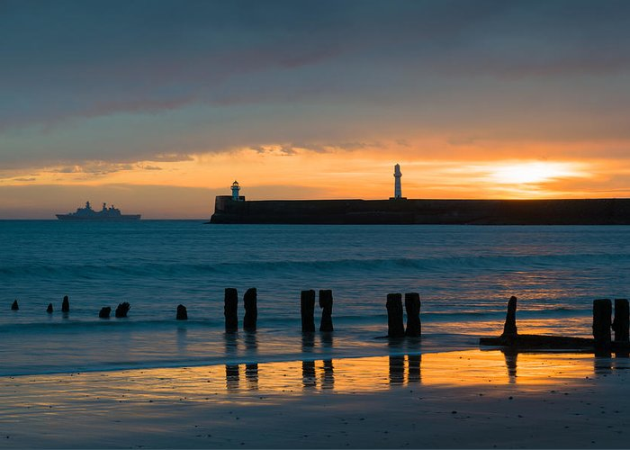 Aberdeen Harbour Greeting Card featuring the photograph Leaving Port by Dave Bowman
