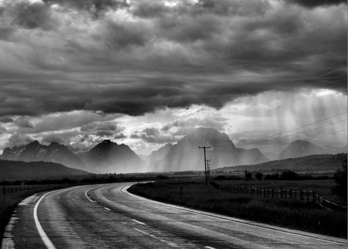 Grand Teton National Park Greeting Card featuring the photograph Leaving The Tetons by Steven Ainsworth