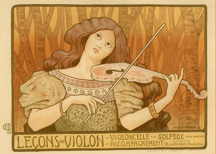 Poster Greeting Card featuring the photograph Lecons De Violon by Gianfranco Weiss