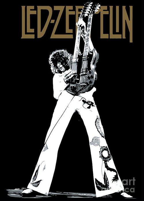 Led Zeppelin Greeting Card featuring the digital art Led Zeppelin No.06 by Caio Caldas