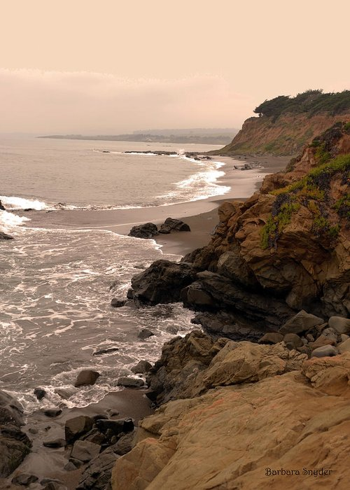 Coast Highway One Paintings Greeting Cards