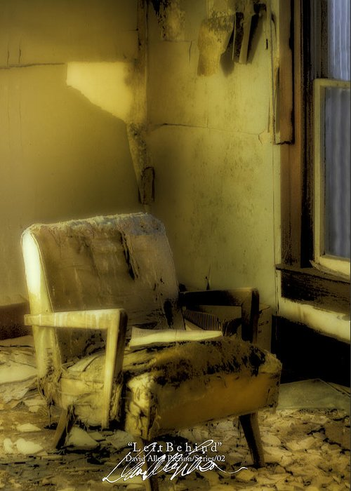 Chair Photographs Greeting Card featuring the photograph Left Behind-series 02 by David Allen Pierson