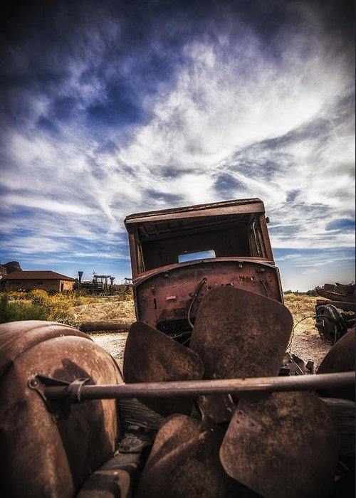 Rusted Automobile Greeting Card featuring the photograph Left To Rust by Anthony Citro