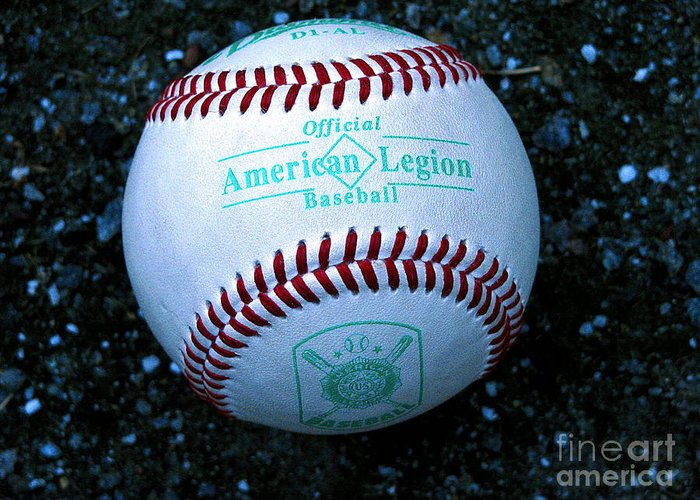 Baseball Greeting Card featuring the photograph Legion Baseball by Colleen Kammerer