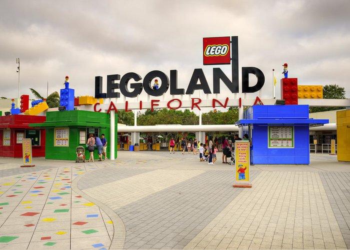 Legoland Greeting Card featuring the photograph Legoland California by Ricky Barnard