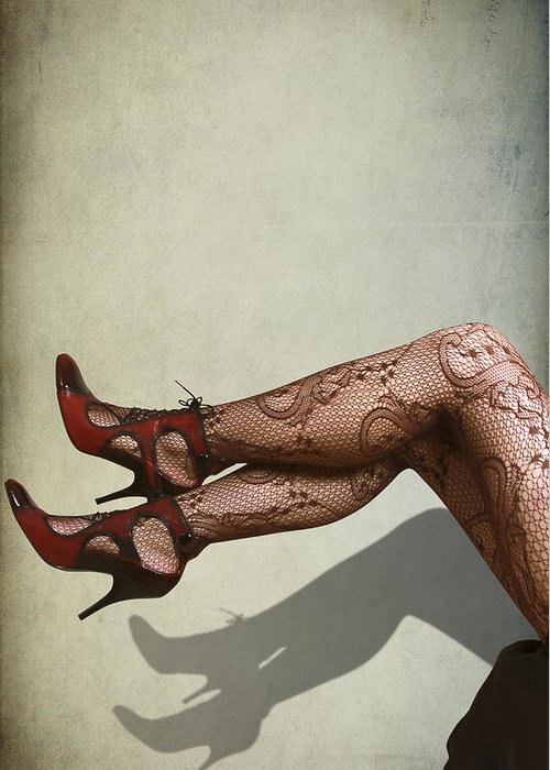 Beautiful Greeting Card featuring the photograph Legs by Svetlana Sewell