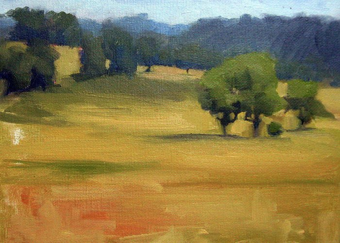 Leiper's Fork Greeting Card featuring the painting Leiper's Fork I by Erin Rickelton